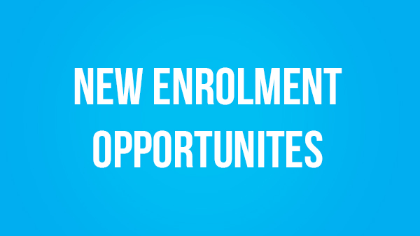 Image for New Enrolment Opportunity