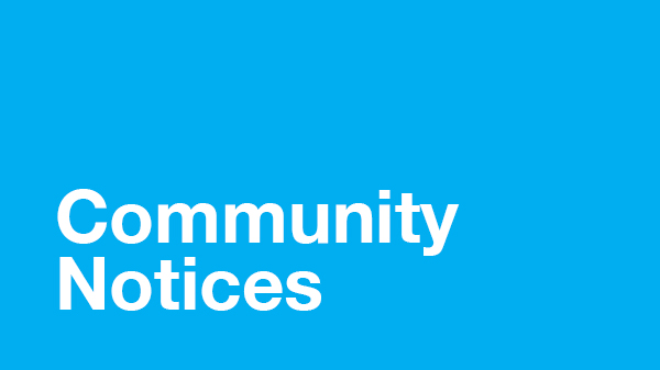 Image for Community Notices